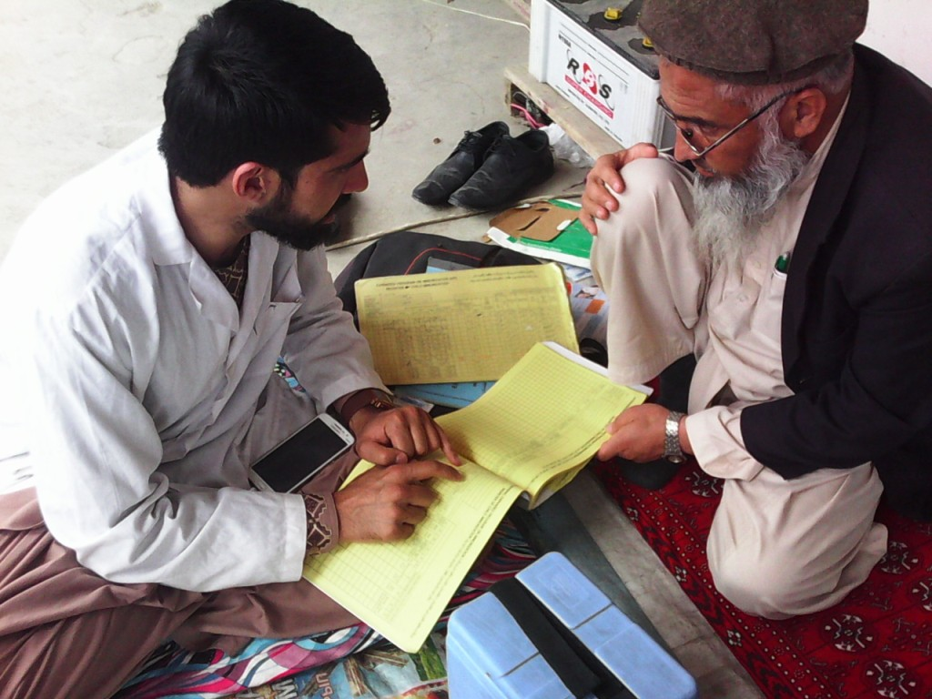 Kabul_ WADAN Survey team interview with a vaccinator